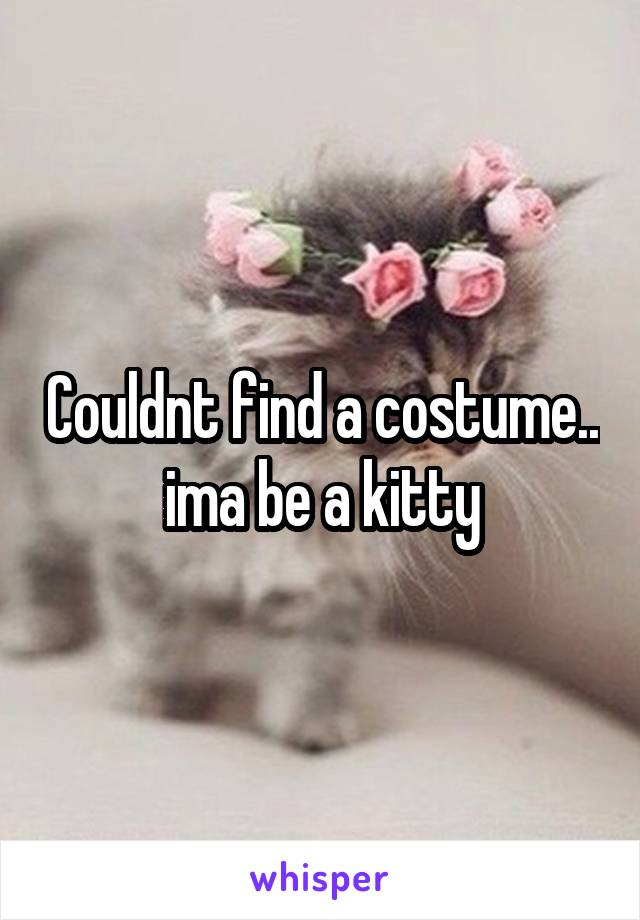 Couldnt find a costume.. ima be a kitty