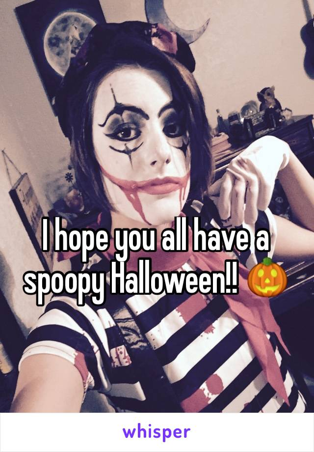 I hope you all have a spoopy Halloween!! 🎃