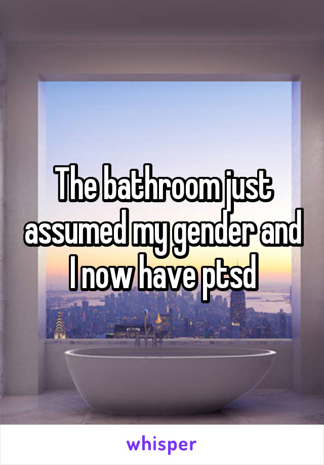 The bathroom just assumed my gender and I now have ptsd