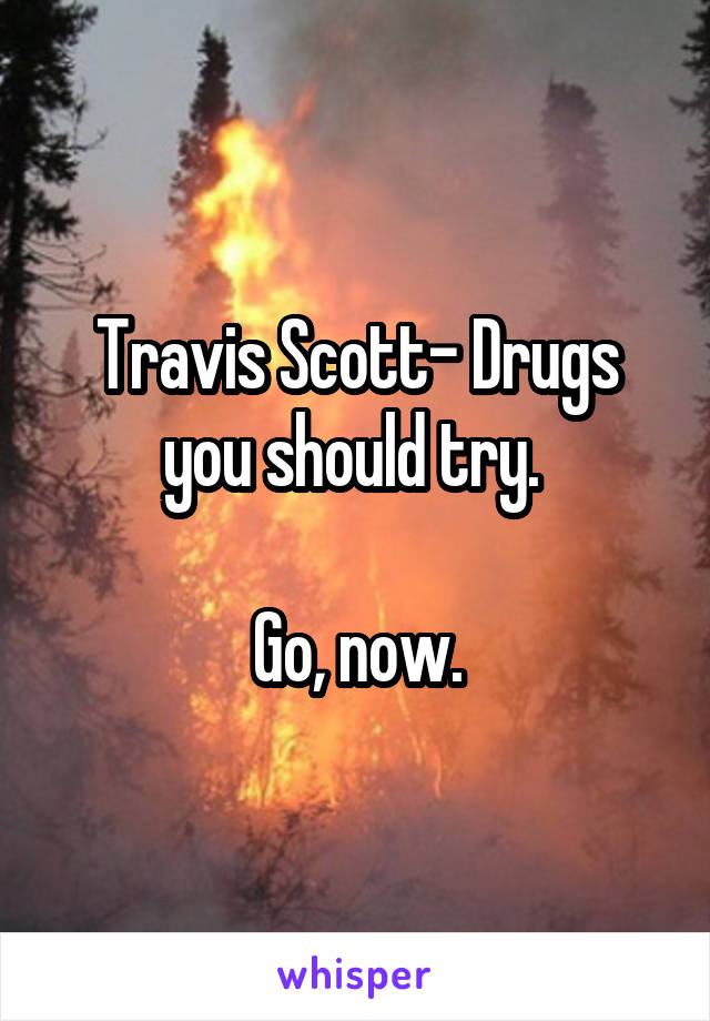 Travis Scott- Drugs you should try.   Go, now.