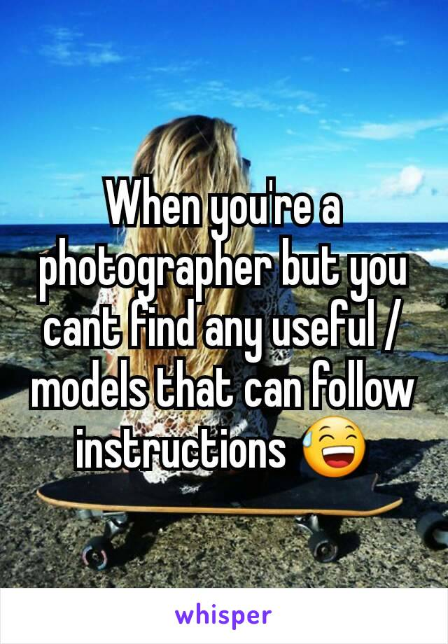When you're a  photographer but you cant find any useful /  models that can follow instructions 😅