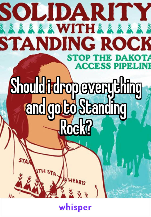 Should i drop everything and go to Standing Rock?