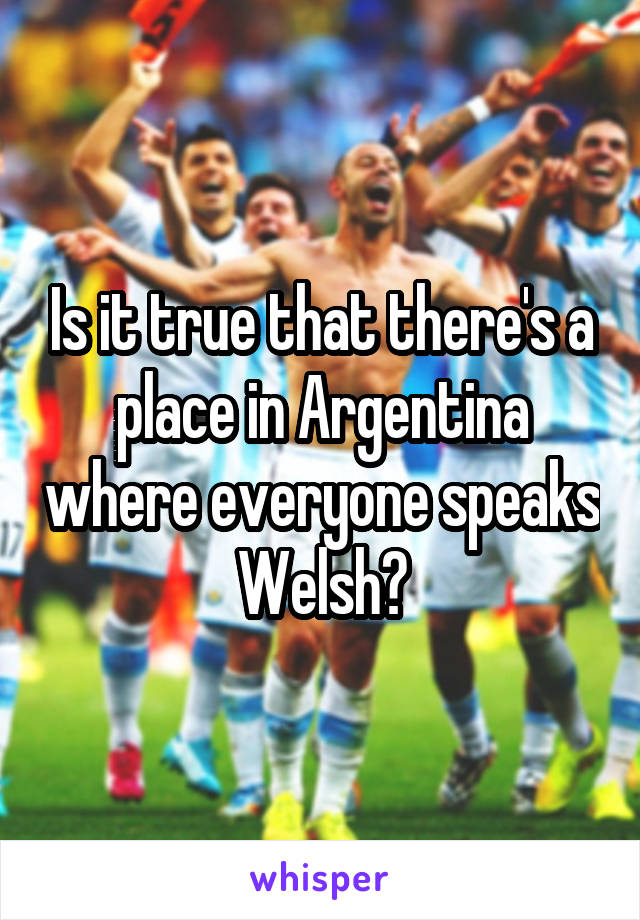 Is it true that there's a place in Argentina where everyone speaks Welsh?