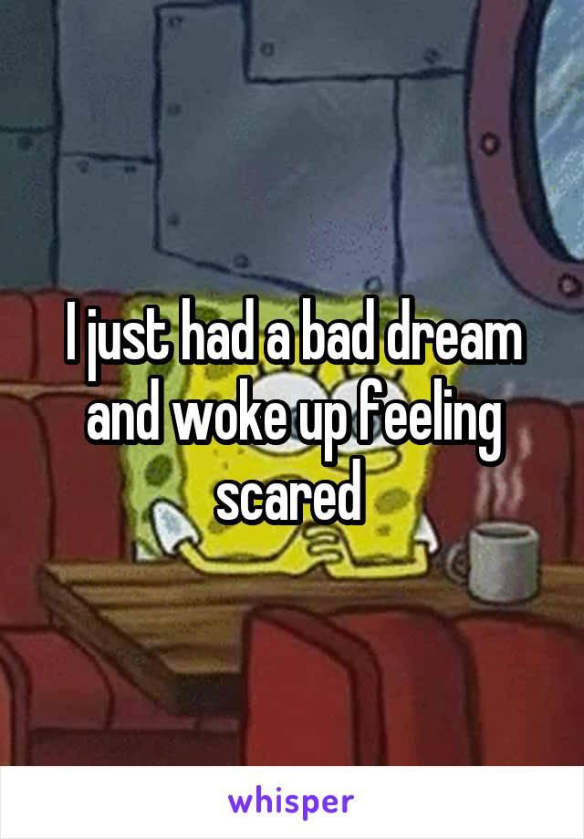 I just had a bad dream and woke up feeling scared