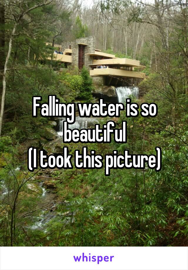 Falling water is so beautiful (I took this picture)