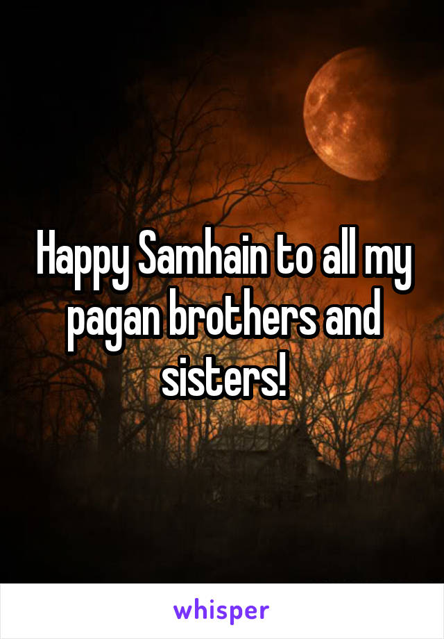 Happy Samhain to all my pagan brothers and sisters!