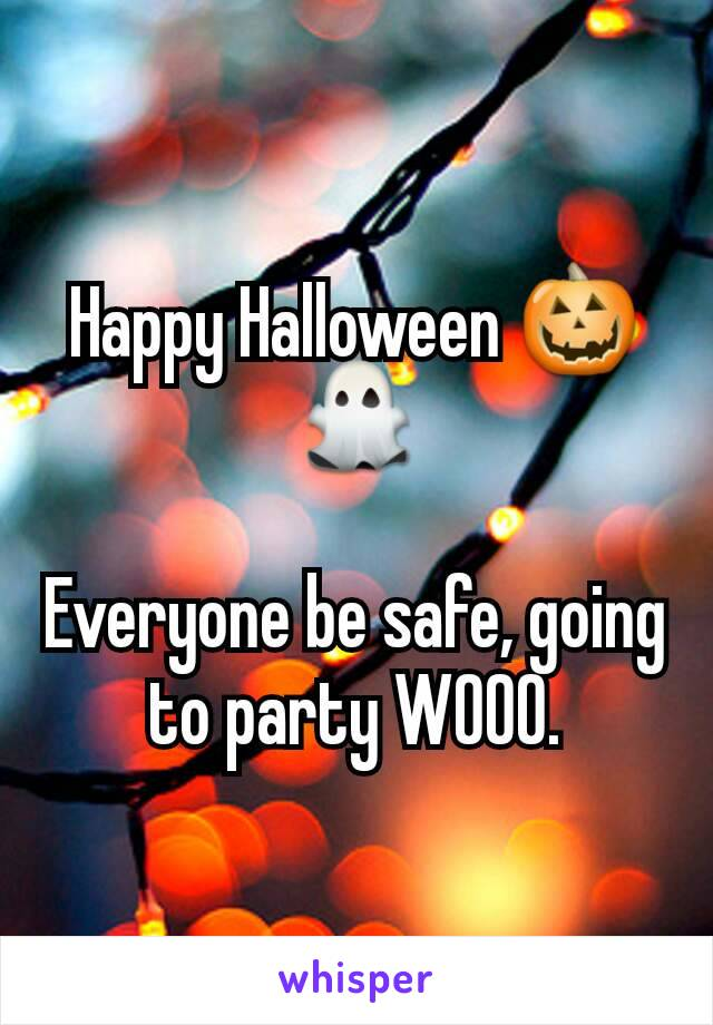 Happy Halloween 🎃👻  Everyone be safe, going to party WOOO.