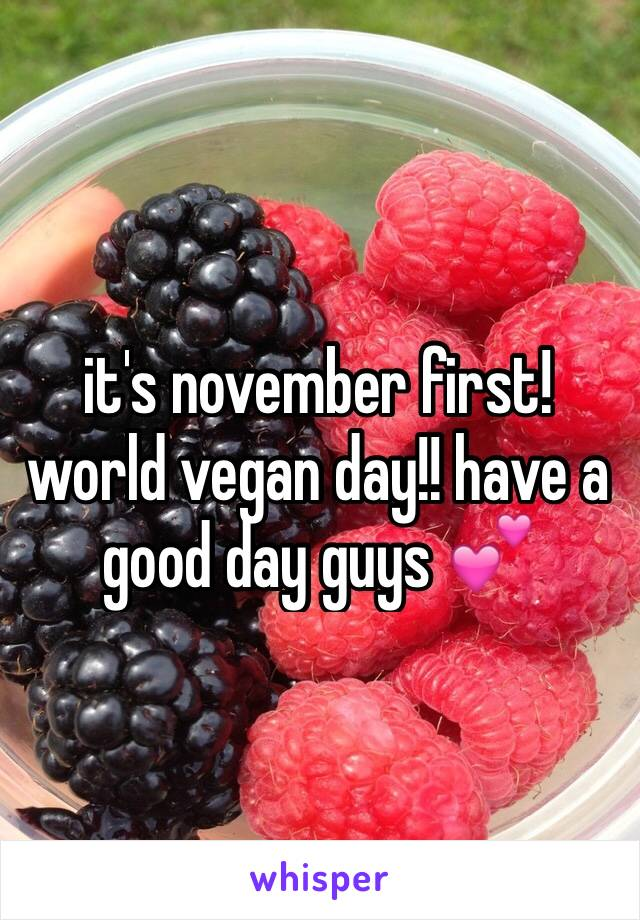 it's november first! world vegan day!! have a good day guys 💕