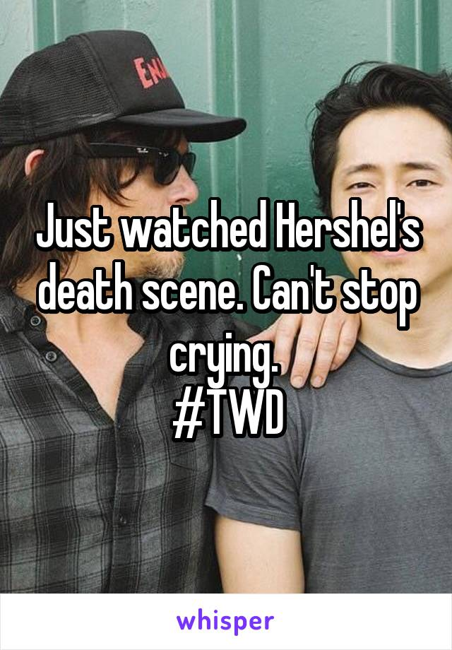 Just watched Hershel's death scene. Can't stop crying.  #TWD