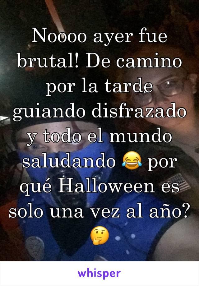 Noooo ayer fue brutal! De camino por la tarde guiando disfrazado y todo el mundo saludando 😂 por qué Halloween es solo una vez al año? 🤔