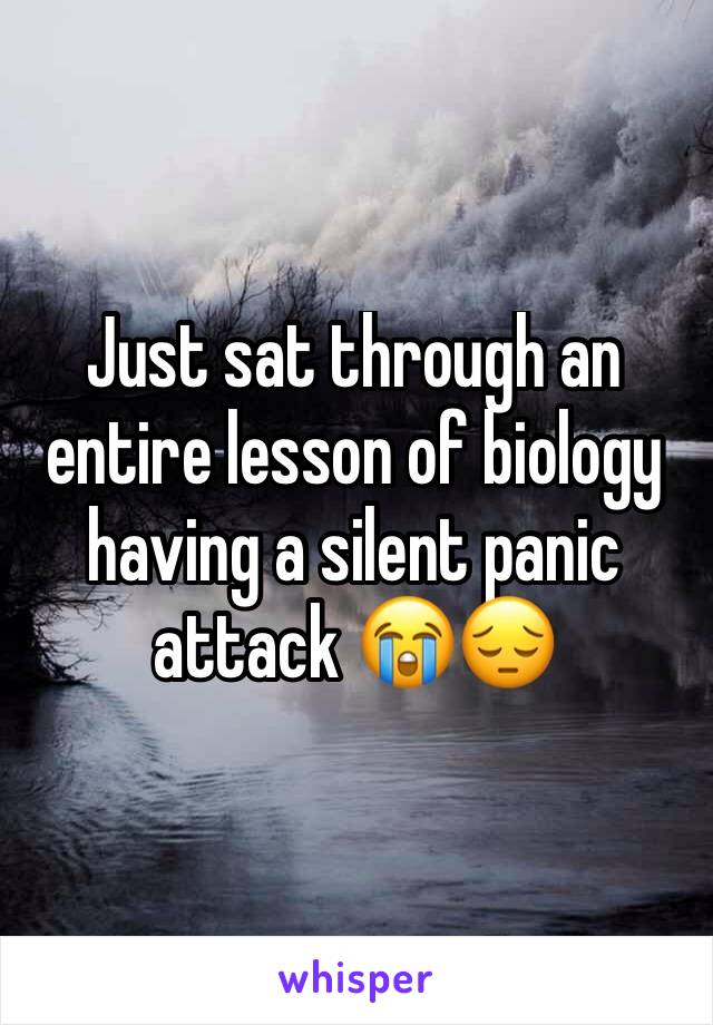 Just sat through an entire lesson of biology having a silent panic attack 😭😔