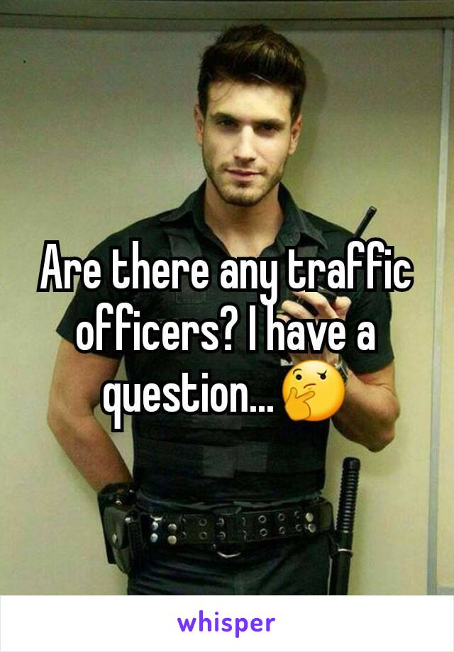 Are there any traffic officers? I have a question...🤔