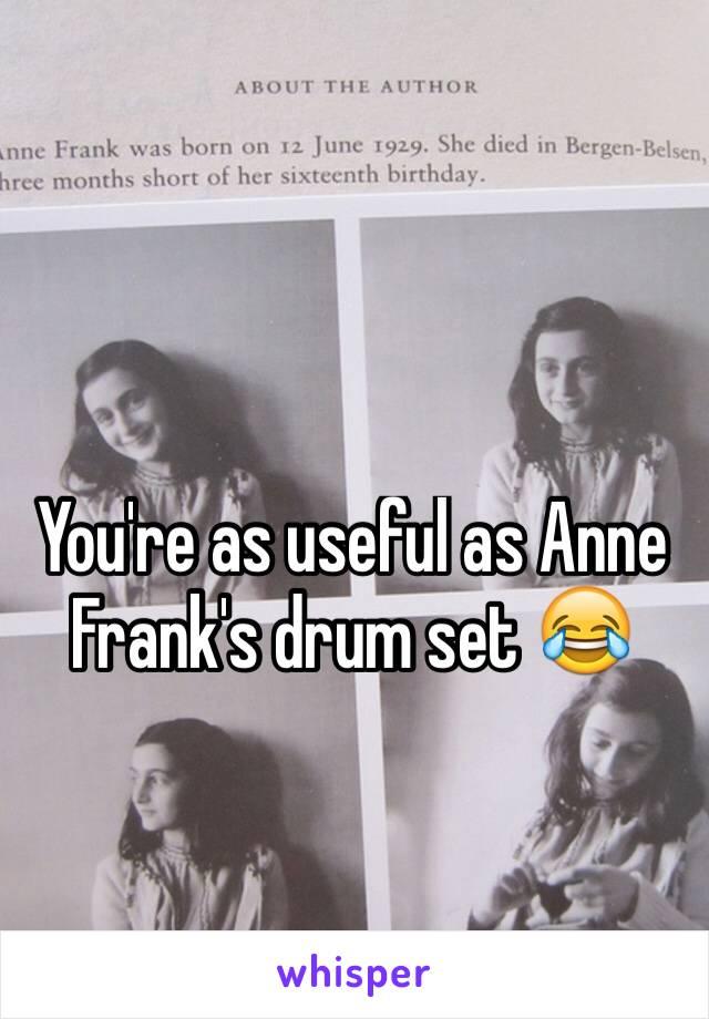 anne franks drum set