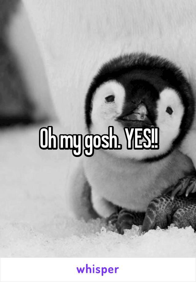 Oh my gosh. YES!!
