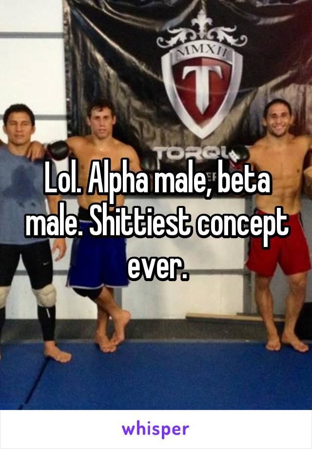 beta male and alpha male