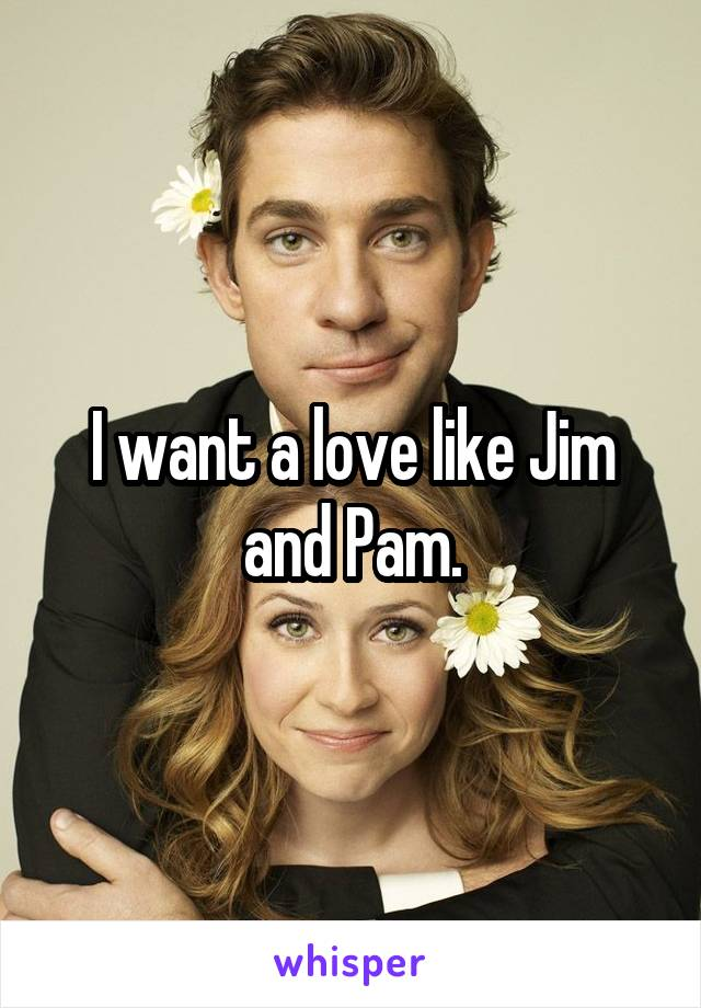 I want a love like Jim and Pam.