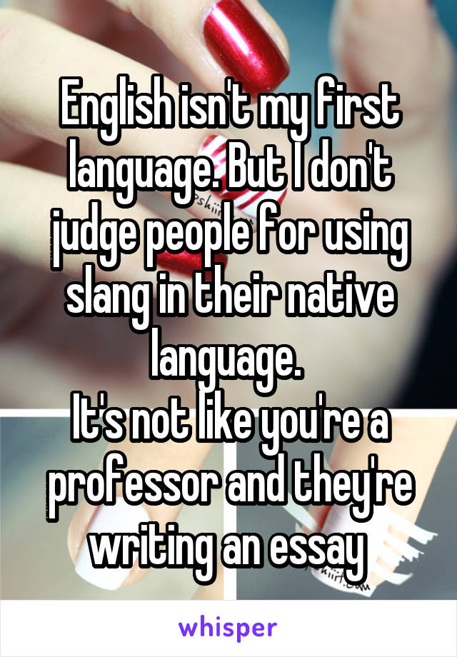 Essays about writing in native language