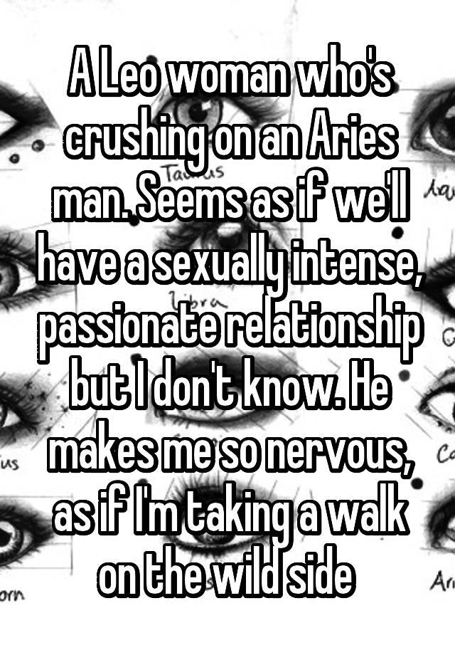 Leo woman aries man sex