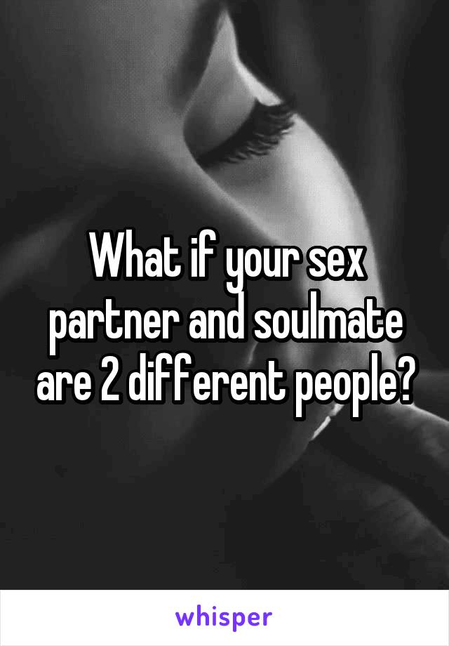 What if your sex partner and soulmate are 2 different people?