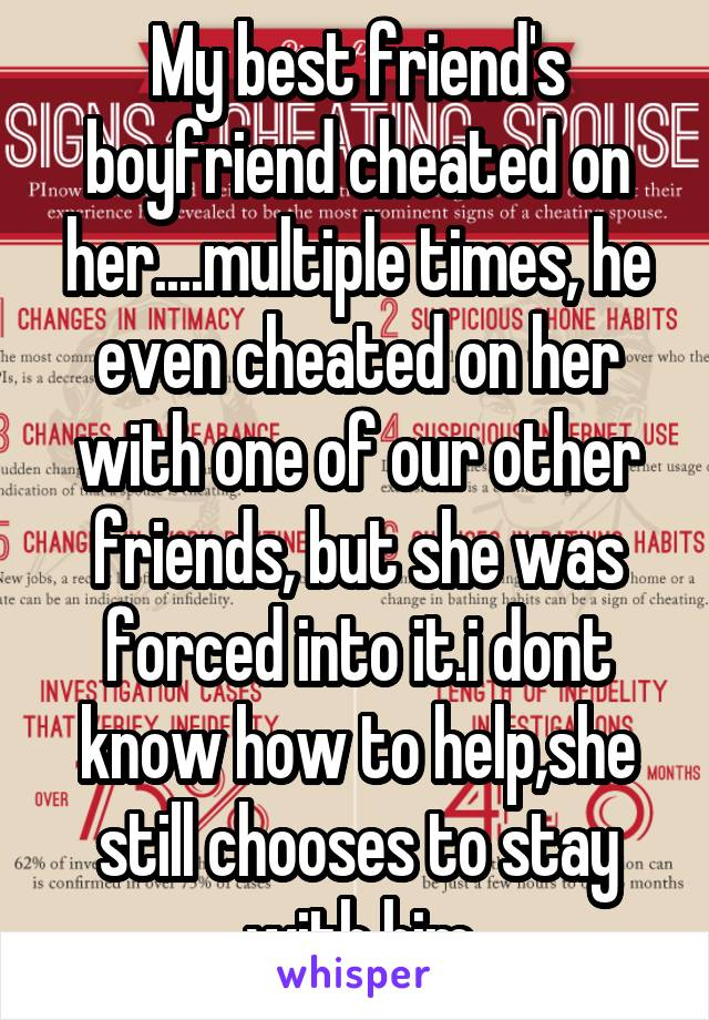 how to tell a friend her boyfriend is cheating