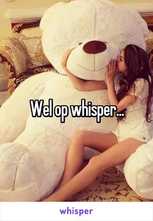 Wel op whisper...