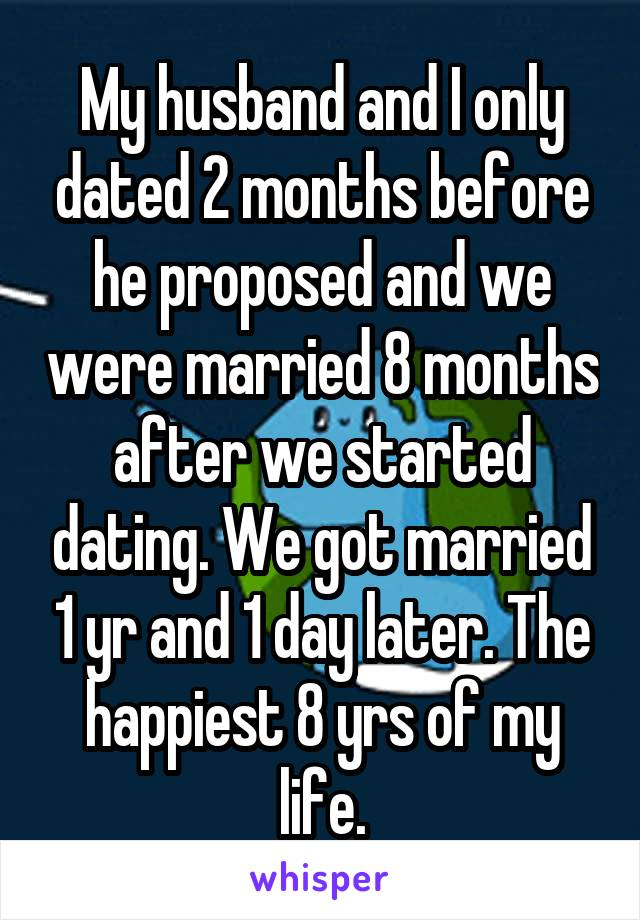 Getting married after 2 months of dating