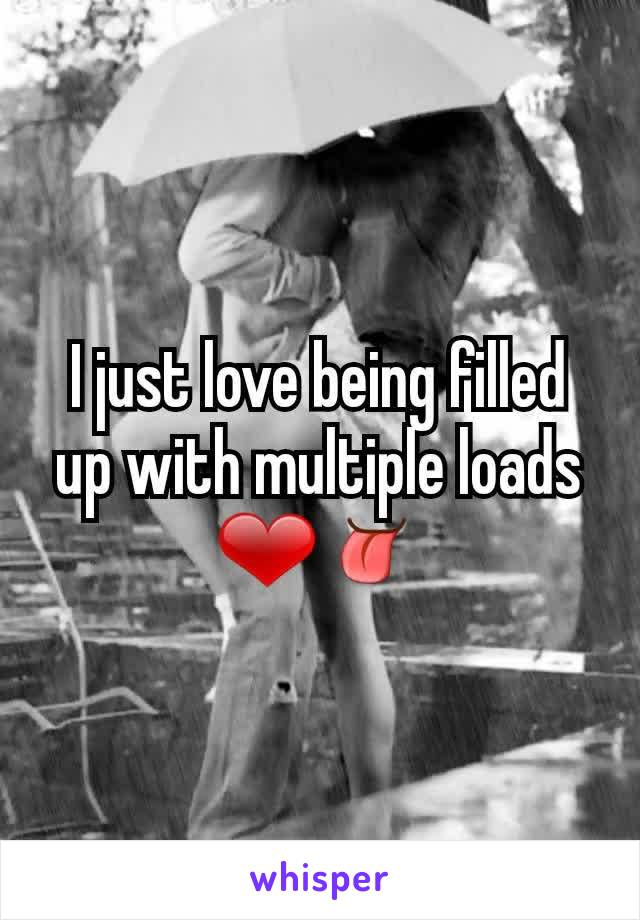 I just love being filled up with multiple loads ❤👅