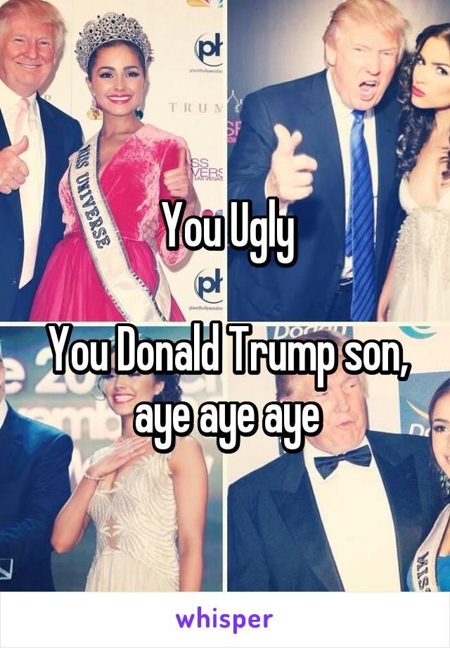 You Ugly  You Donald Trump son, aye aye aye