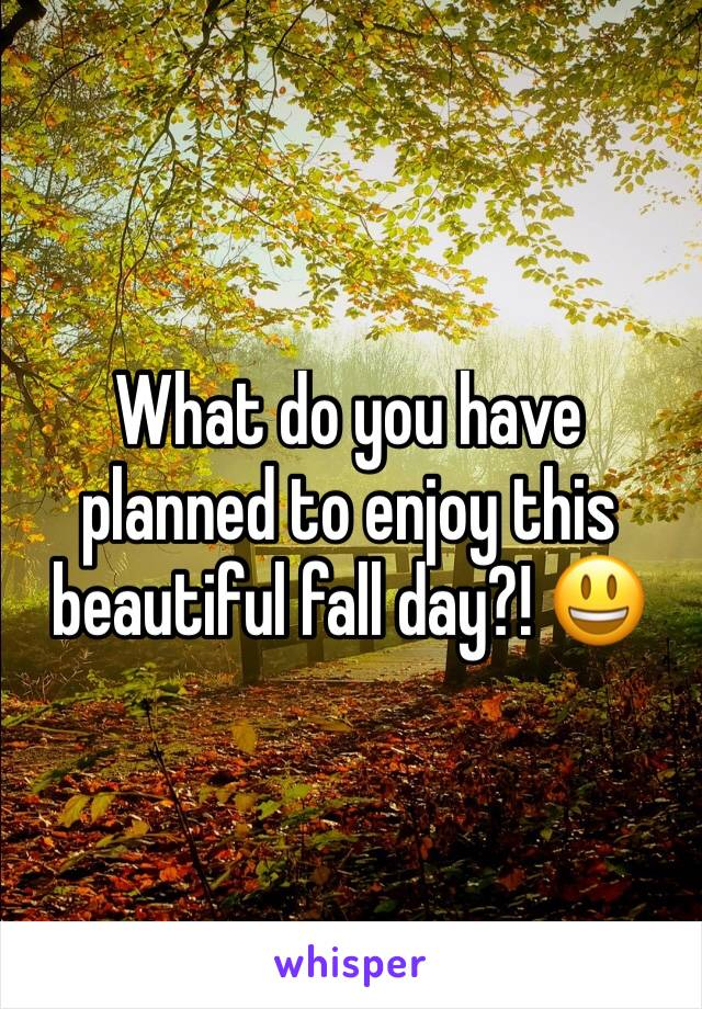 What do you have planned to enjoy this beautiful fall day?! 😃