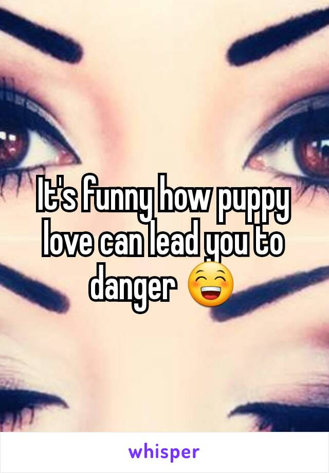 It's funny how puppy love can lead you to danger 😁