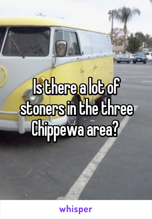 Is there a lot of stoners in the three Chippewa area?