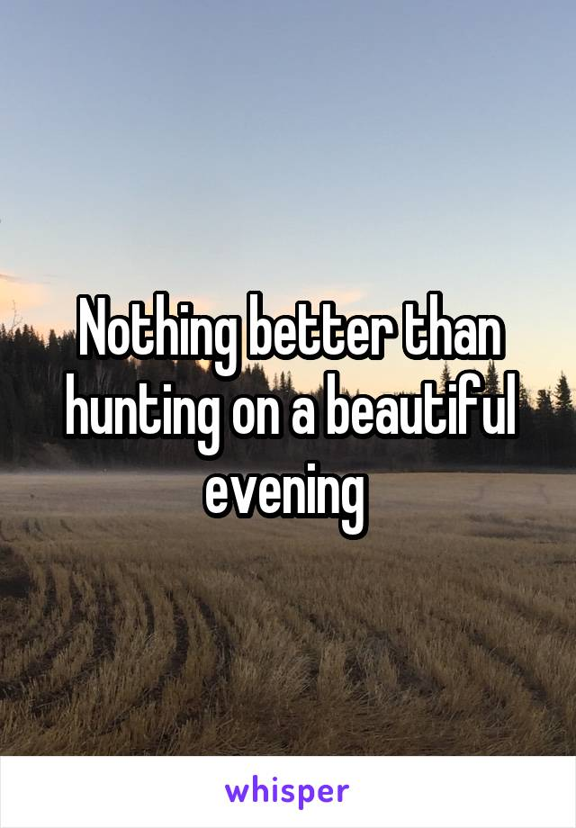 Nothing better than hunting on a beautiful evening