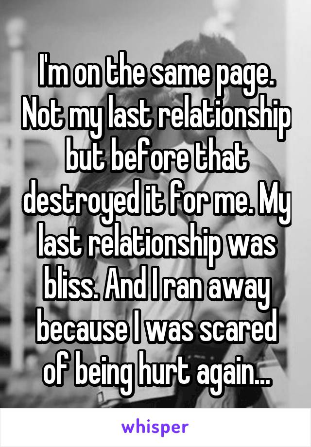 Not on same page relationship