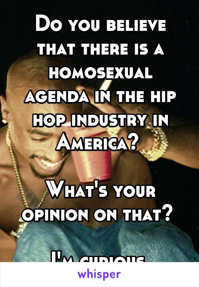 Homosexual agenda in hip hop