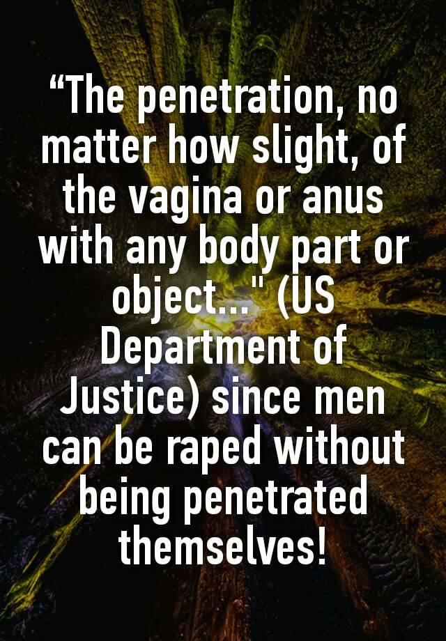 Slight vaginal penetration