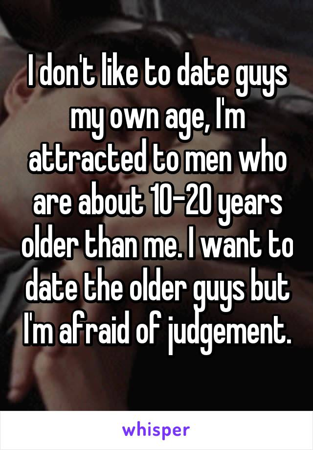 Dating a guy 20 years older than me