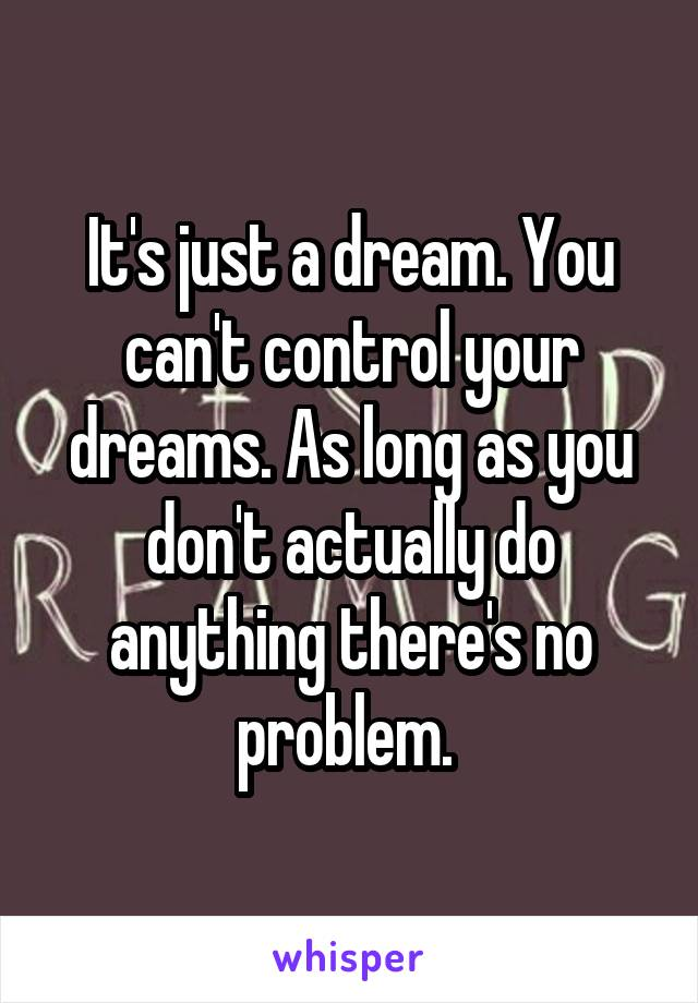 controling your dreams