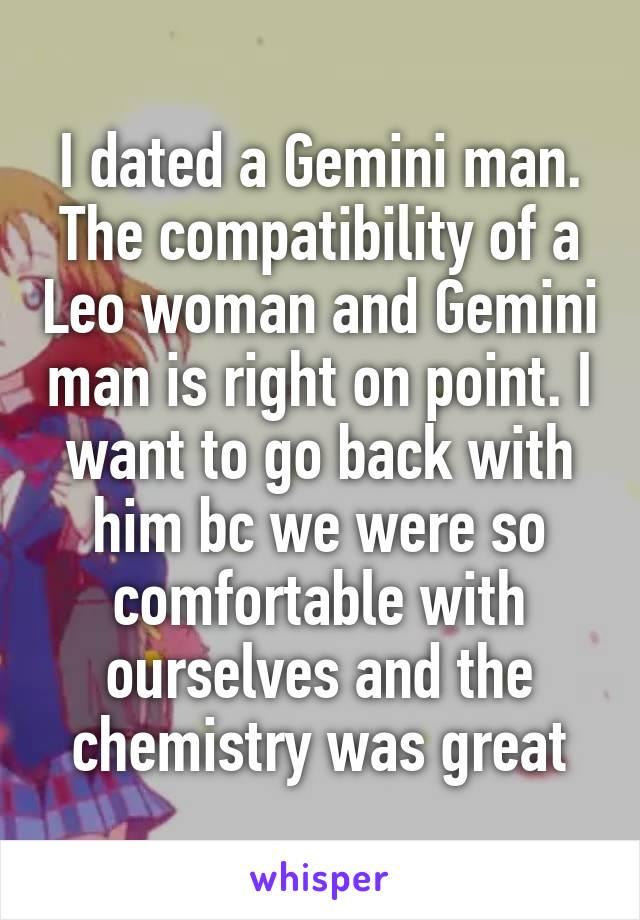 Gemini man leo woman chemistry
