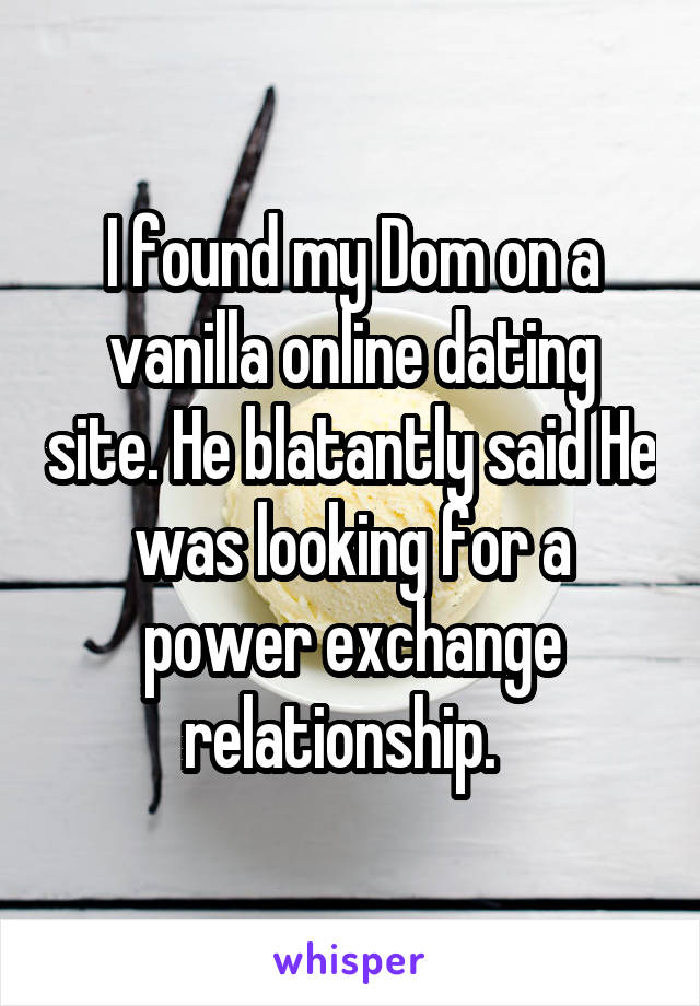 Dom dating site