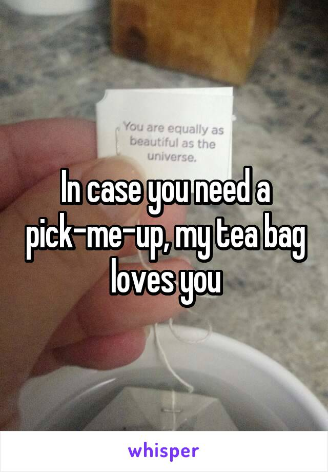 In case you need a pick-me-up, my tea bag loves you