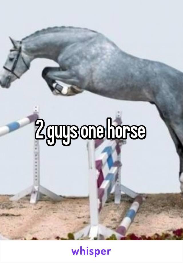 2 Guys One Horse