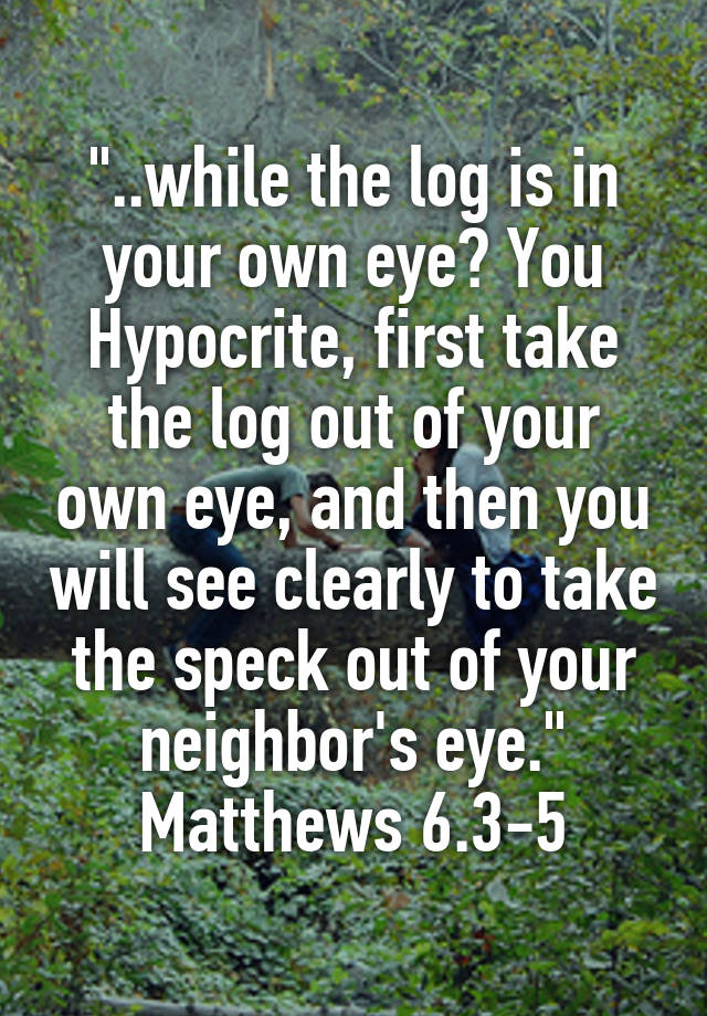 Eye remove own the log from your Remove the