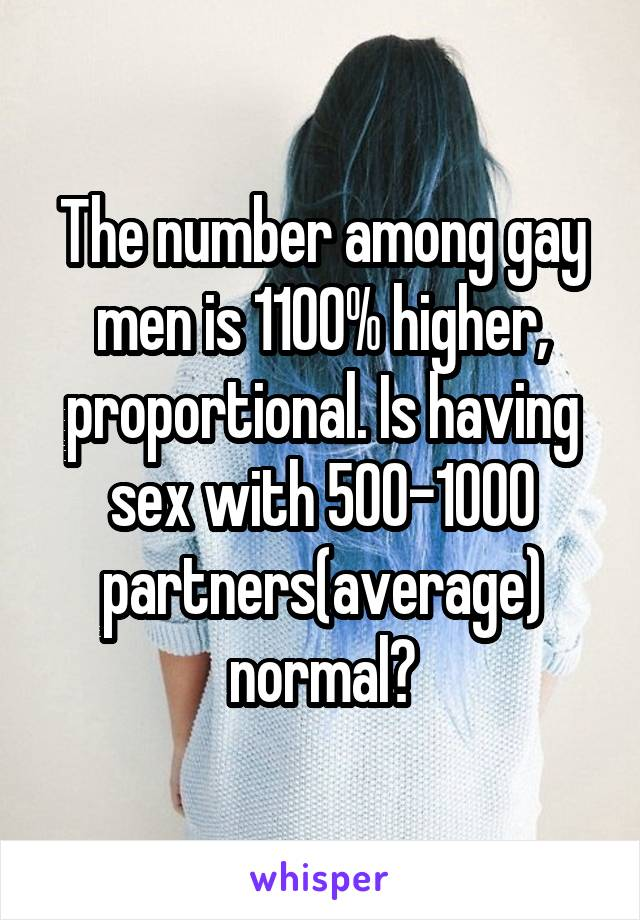 Average number of sex partners for gay men