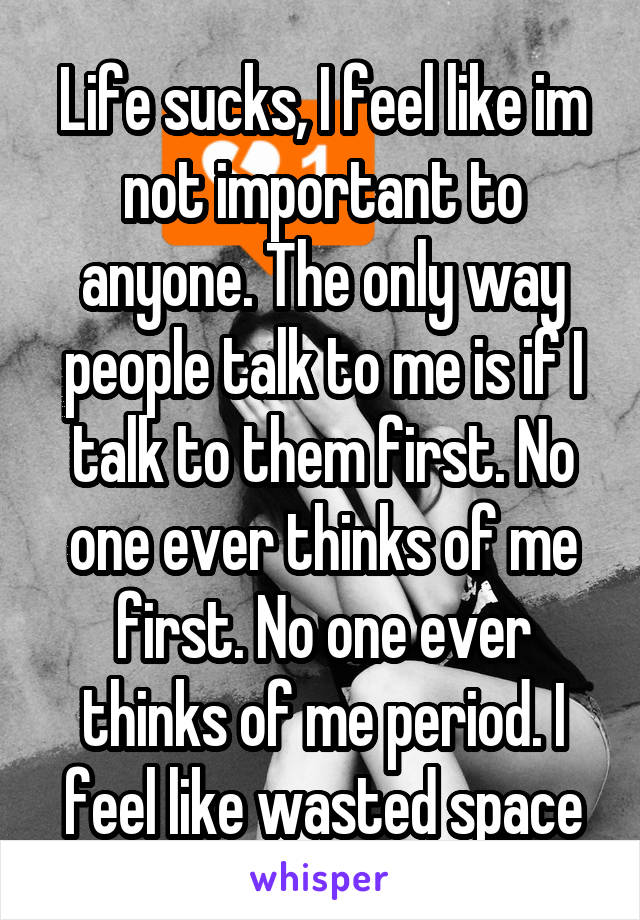 not important to anyone