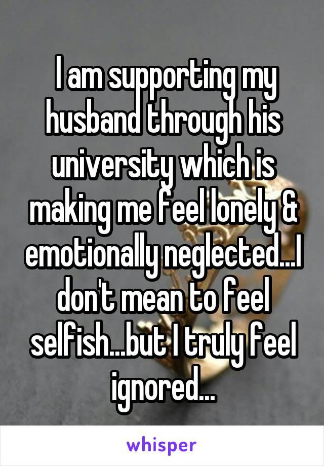 my husband neglects me emotionally