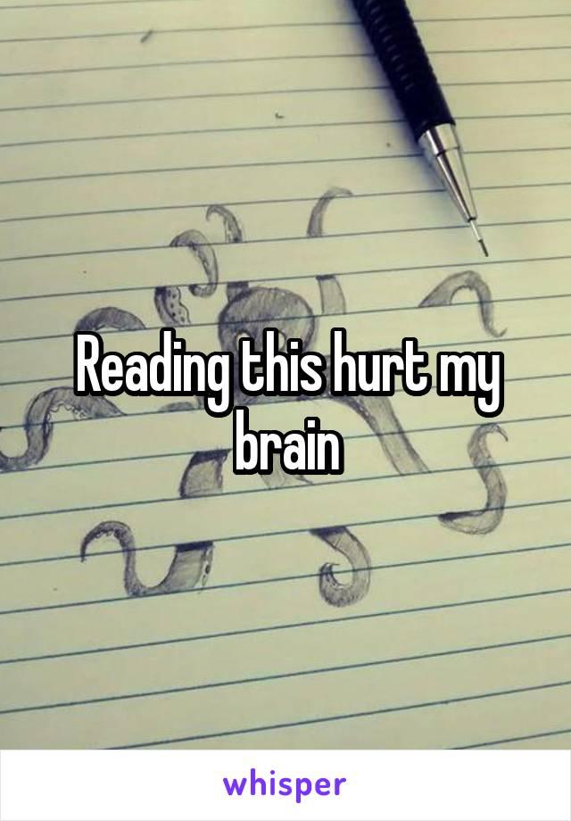 Reading this hurt my brain