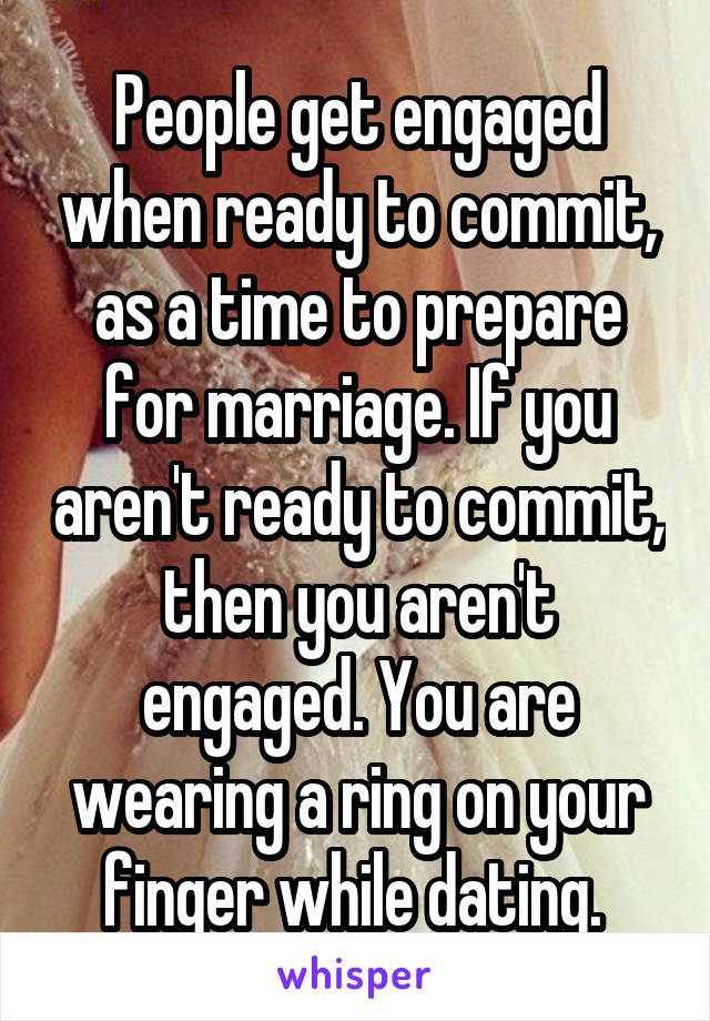 Getting engaged while still married