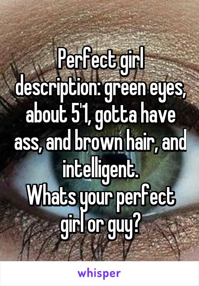 perfect girl description