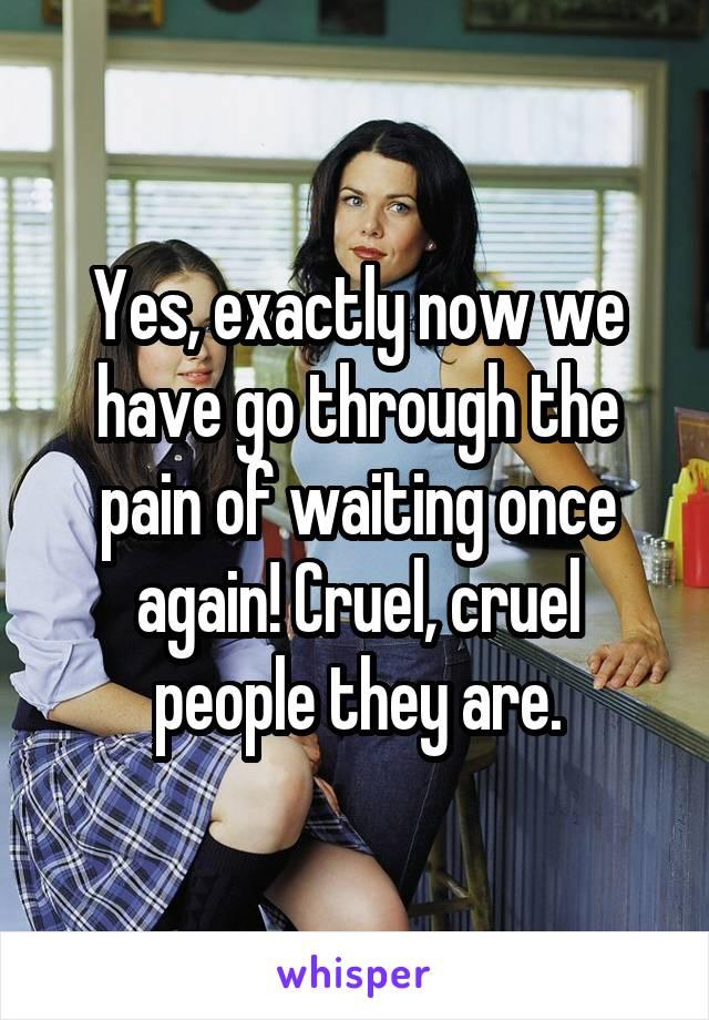people cruel