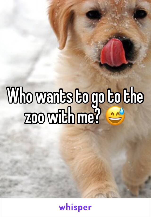 Who wants to go to the zoo with me? 😅